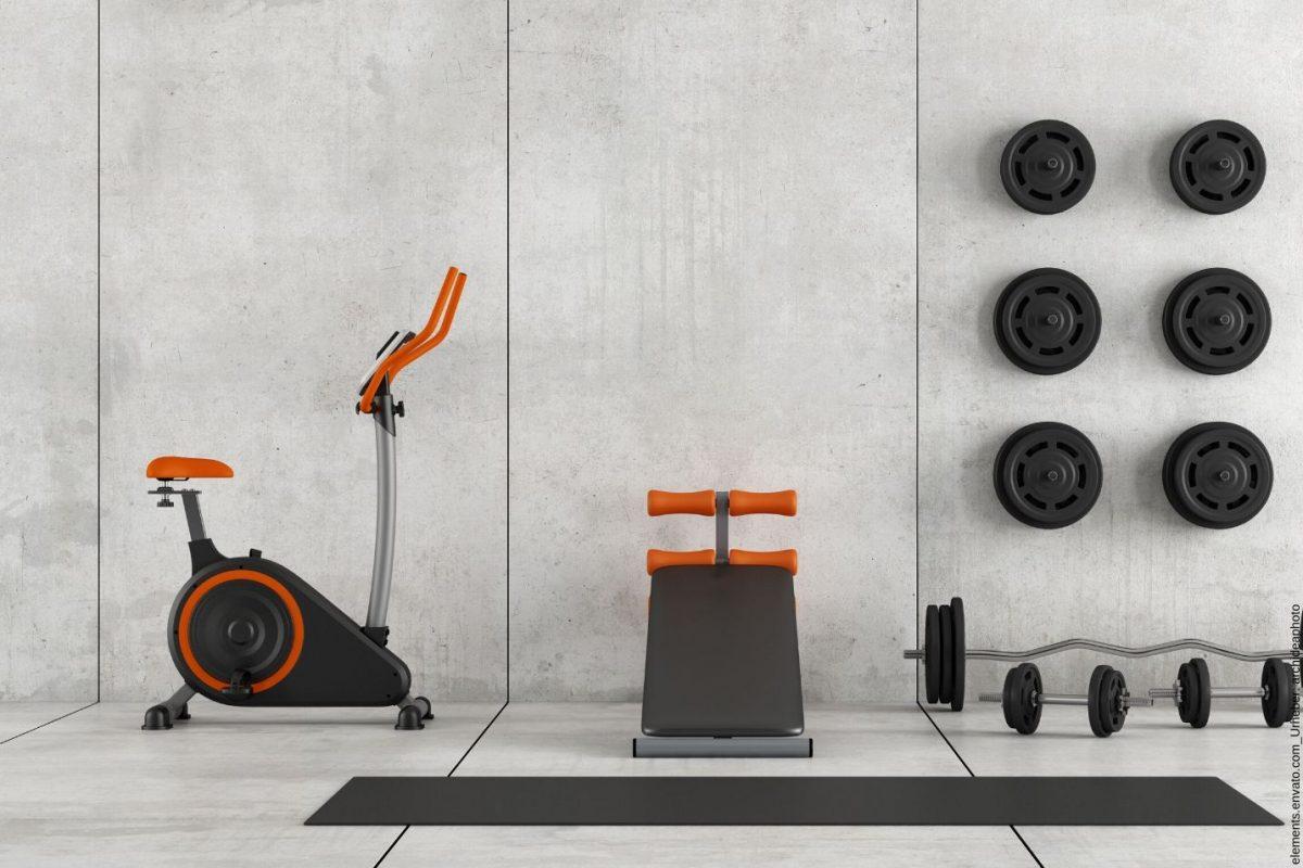 Richtige Raumplanung von einem Fitnessstudio